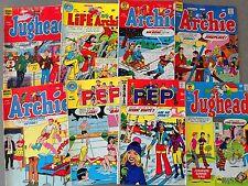 8 Archie Comics Bronze Age PEP Betty Veronica JUGHEAD RIVERDALE (Lot B27)