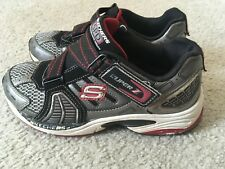 SKECHERS SPD Perfomance Design Super Z SKX Sneakers Shoes~Black/Red~Size 4