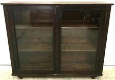 Antique Rolling Bookcase / Display Cabinet Lot 2453