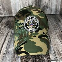 UNITED STATES ARMY MILITARY CAMO HAT CAP ADJUSTABLE STRAP BACK ONE SIZE FITS OSF