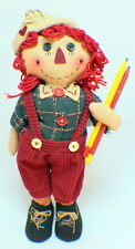 Raggedy Ann  Americana Plush Doll with pencils withOveralls New