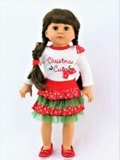 "Christmas Cutie Skirt Set Fits 18"" American Girl Doll Clothes"