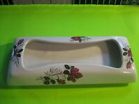 Vintage Ceramic Tissue Box Roses Design Footed Heatherley England