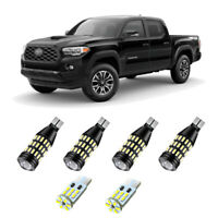 6pc White Reverse Cargo License Plate Light Bulbs for 2016-2020 Toyota Tacoma
