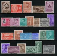 INDIA 1956-59 COMPLETE COMMEMORATIVE YEAR SETS BUDDHA SCOTT #272/327 MINT