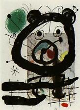 Joan Miró Original Lithografie - Sternzeichen Löwe -38x28 cm - WERKV.: WEBER 379