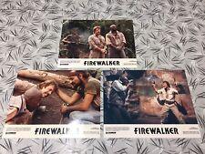 Firewalker 1986 Original Issue 8x10 Lobby Cards Set Of 3 Chuck Norris