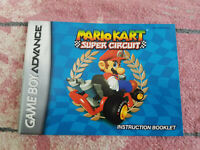 Mario Kart Super Circuit - Authentic - Nintendo Game Boy Advance - Manual Only!