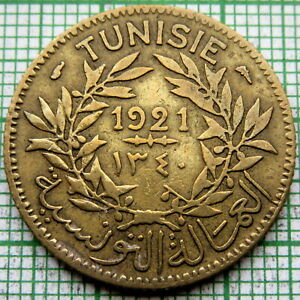 TUNISIA CHAMBERS OF COMMERCE COINAGE 1921 1 FRANC
