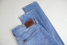 LEE LUKE Men's W31/L32 Slim Fit Stretch Fade Effect Blue Jeans 21088-JS