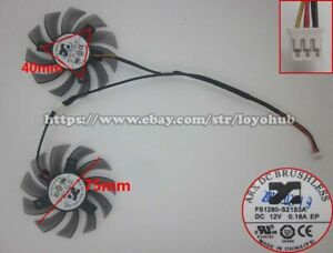 For GIGABYTE GTX460 560 graphics card fan FS1280-S2153A 12V 0.16A 3-Pin/2-Pin