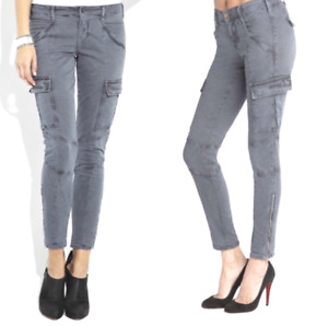 J Brand Women's Houlihan Ankle Skinny Cargo Gray Jeans Sz 25 26 27 $228
