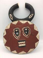 Vintage Baule Goli Ceremonial Mask Kple Kple Carved Wood African Art Ivory Coast
