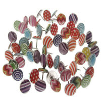 100Pcs creative fashion push pins decorative thumbtacks for wall mapsSEDD