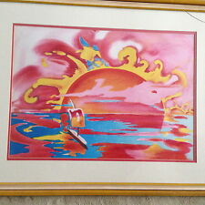 """Peter Max """"Solar View"""" original limited edition lithograph signed 12/165"""