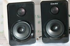 120-151 av-link Active Bluetooth Bookshelf speakers - 2 x 15w - Remote Control