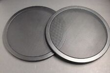 """2 12"""" inch Sub Woofer Clipless Fine Mesh GRILL Speaker Protective Cover Scratch"""
