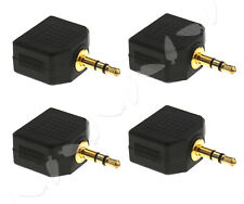 4x 3.5mm Stereo Jack Headphone Splitter Adaptor 1 Male Plug to 2 Female Sockets