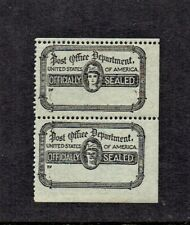 1919 U.S. CLASSIC Post Office Seal Black p. 12   PAIR +1 Sc#OX18 M/NH/OG