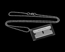 Marc Jacobs Silver Razor Blade Necklace Lil Wayne