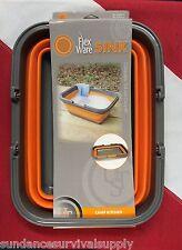 FLEXWARE SINK  survival hiking bike camping emergency disaster  UST GIFT orange