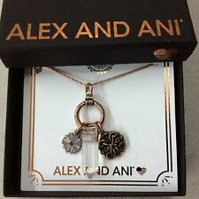 Alex and Ani Life Trio Necklace Rafaelian Rose Gold NWTBC