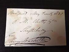 HENRY WARBURTON - M.P. , MERCHANT & AMATEUR SCIENTIST - SIGNED ENVELOPE FRONT