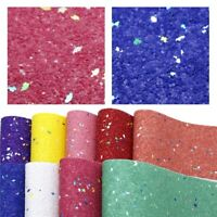 full or 1//2 sheet Pink /& purple stripes GLITTER faux leather fabric sheet