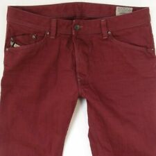 Mens Diesel DARRON 008QU Slim Tapered Claret Red Jeans W34 L34