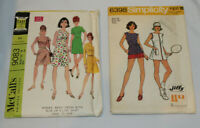 2 vintage womens sewing patterns McCall's 9083 Simplicity 6398 Size 14 Uncut FF