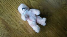 Antique Mini Teddy Bear Pink Mohair 5 Inch. Marked Germany Jointed Glass Eyes