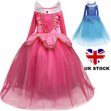 Girl Sleeping Beauty Princess Dress Costume Party Aurora Cosplay Dresses Age 3-8