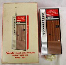 Vtg Novelty Vendo Coca ~ Cola Coke Vending Machine AM Transistor Radio W/ Box
