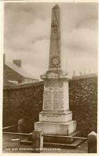 REAL PHOTOGRAPHIC POSTCARD OF THE WAR MEMORIAL, HOWDEN-LE-WEAR, COUNTY DURHAM