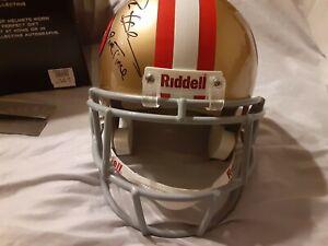 U.D. Autograph Replica Helmet Deion Sanders 49ers LIMITED 14/21