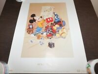 """VINTAGE 24"""" X 18"""" MICKEY MOUSE 60 YEARS IN PICTURES POSTER"""