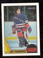 1987-88 OPC O-Pee-Chee JOHN VANBIESBROUCK #36 NM-MINT New York Rangers