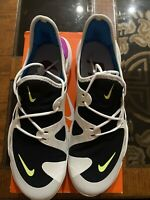 Nike Free RN Run 5.0 Summit White/Volt Glow-Black Men Shoes Size 10 (AQ1289-100)