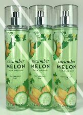 3 Bath And Body Works*Cucumber Melon*Fragrance Mist Splash*Free Priority Ship