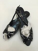 Womens Shoes Size 6 Open Toe Flat Shoe Black Size6 New Free Delivery