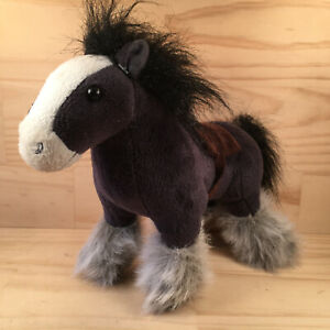 """Disney BRAVE """"Angus"""" Awesome Kids Black Horse Character Soft Toy Stuffed Animal"""