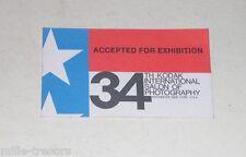 TICKET entrée SALON KODAK USA - 34th KODAK International Salon of PHOTOGRAPHY