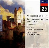 NEW Mendelssohn: The Symphonies II: Symphony Nos. 3, 4 & 5 (Audio CD)