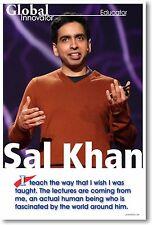 Sal Khan - Khan Academy - NEW Famous Person Motivational Classroom POSTER