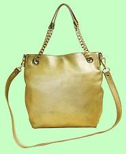 MICHAEL Michael Kors JET SET Chain Gathered Leather Shoulder Bag Msrp $198.00