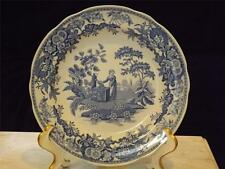 """Spode Blue Room Collection Girl At Well Dinner Plate 10.5"""""""