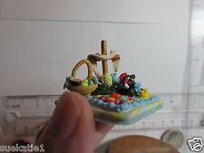 "Mini EASTER Scene Poly Clay 1.25 (1 1/4)"" RESURRECTION Cross/Basket/Peeps OOAK"