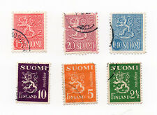 Finland Postage Stamps Rare Lot of 6