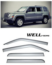 For 07 Up Jeep Patriot Wellvisors Side Window Deflectors Visors With Black Trim Fits 2012 Jeep Patriot