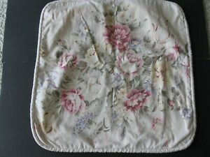 """VINTAGE FABRIC CUSTOM MADE FLORAL PILLOW COVER 21"""" X 21"""""""